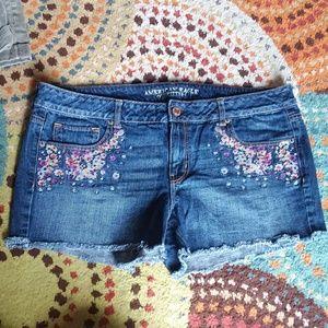 AMERICAN EAGLE festival cut off shorts plus sz 18